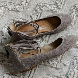 Dr. Scholl's Suede Grey Flats (Sz 9)